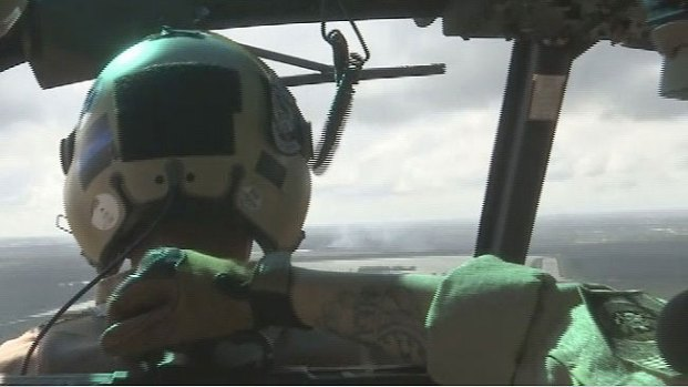 La frontera desde un helicóptero de la Patrulla Fronteriza