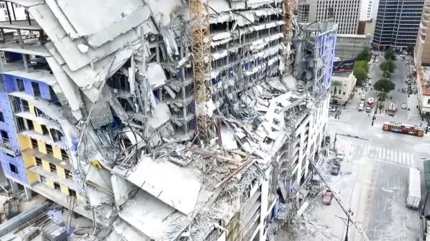 [TLMD - LV] Desde el aire: video inédito tras el derrumbe del hotel Hard Rock