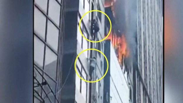 [TLMD - LV] Dramático: se arriesgan para escapar de voraz incendio