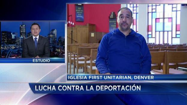 Inmigrante refugiado en iglesia espera respuesta