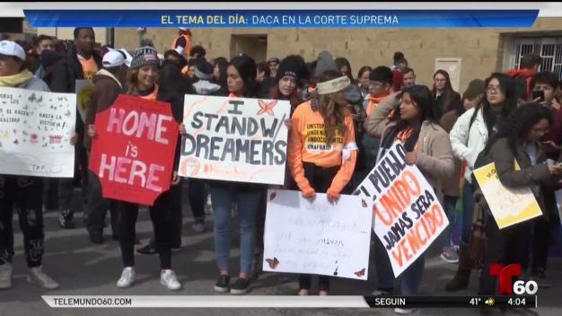 Cientos de dreamers protestan en la capital de Texas
