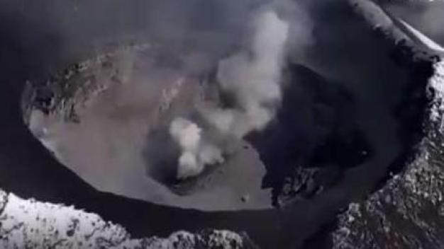 Como nunca lo viste: el increíble cráter del Popocatépetl}