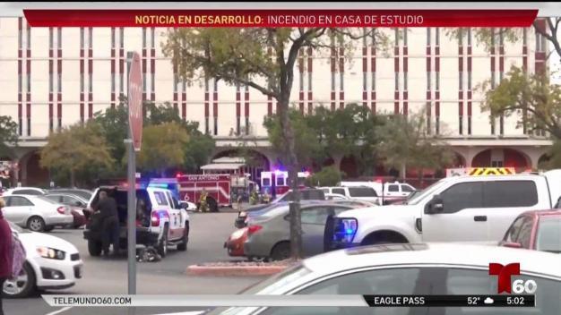 Investigan incendio en San Antonio College