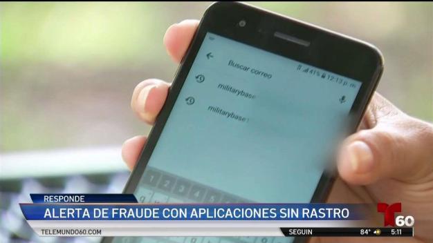 Fraude con aplicación sin rastro