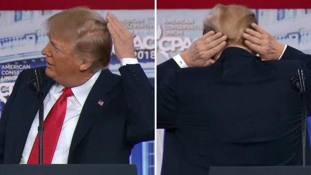Trump habla sobre lo que esconde bajo su cabello