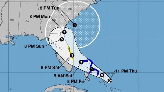 Emiten vigilancia de tormenta tropical en Florida