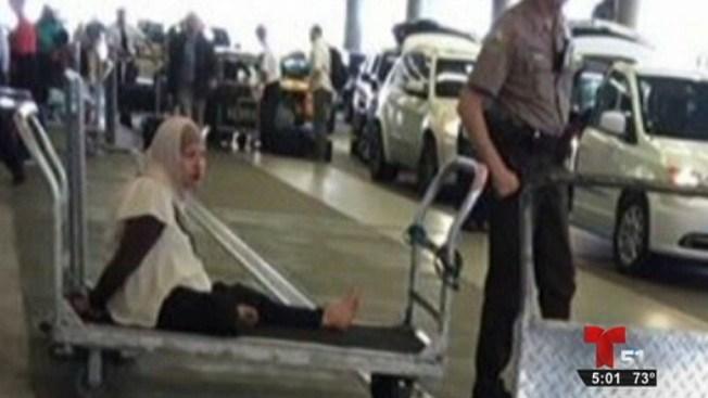 Hispana siembra pánico en aeropuerto de Miami