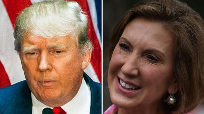 """Donald Trump critica la """"cara"""" de Carly Fiorina"""
