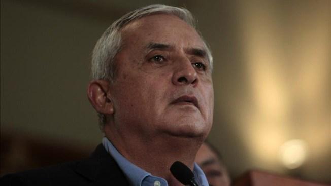 Pérez Molina no puede salir de Guatemala