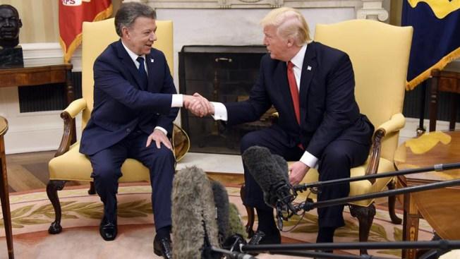 Trump y Santos hablan sobre la guerra contra las drogas
