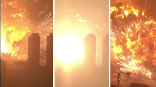 Revelan video de dantesca explosión en China