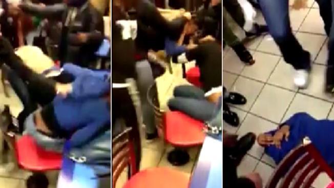 Grupo ataca como pirañas a joven en McDonald's
