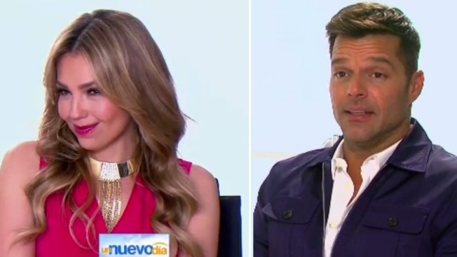 Thalía y Ricky Martin, pareja maléfica en Minions