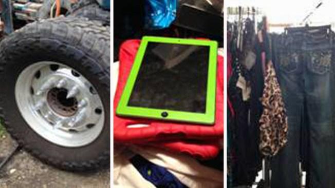 Vendían artículos robados en venta de garaje