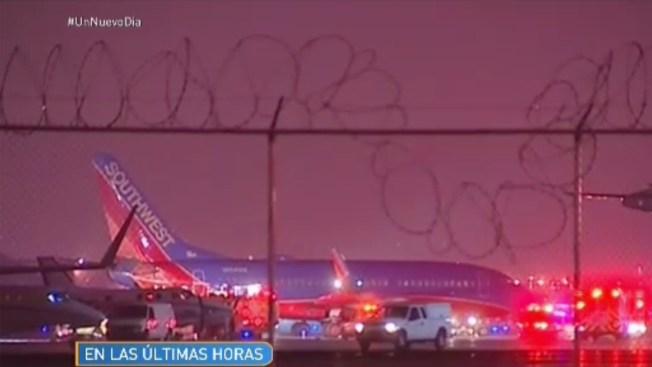 Pasajeros de avión se llevan un susto en Midway