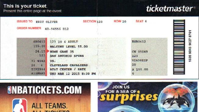 Venden entradas falsas para juegos de los Spurs