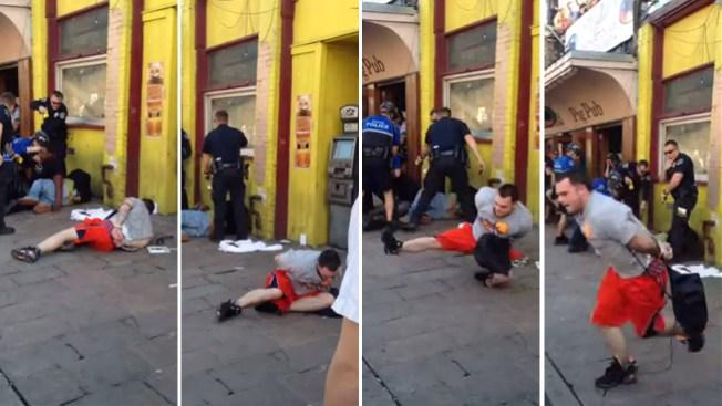 Esposado escapa de la policía en SXSW
