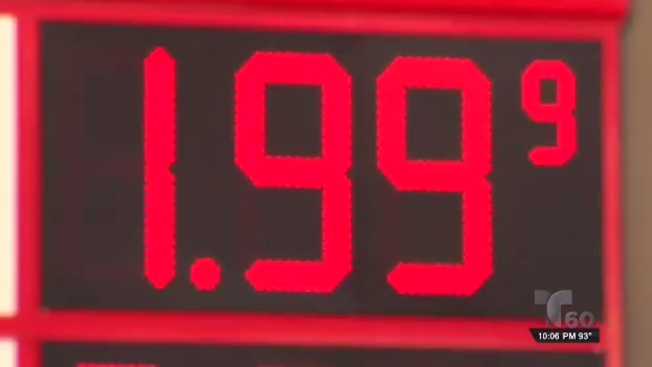 La gasolina baja y baja