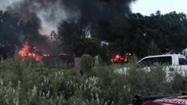 Voraz incendio al sur de la ciudad