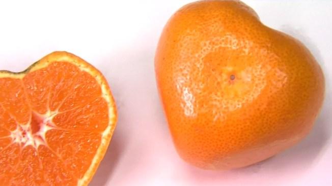 Mandarinas acorazonadas para tu media naranja
