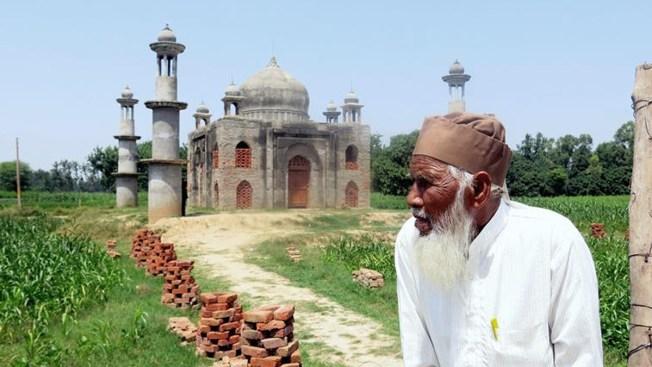 Viudo construye nuevo Taj Mahal más modesto