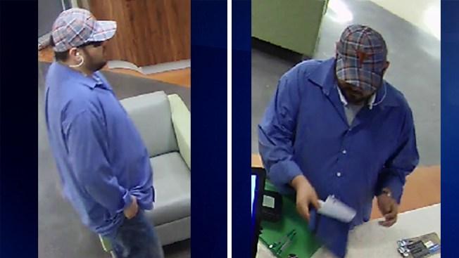 Sospechoso buscado por robo de banco
