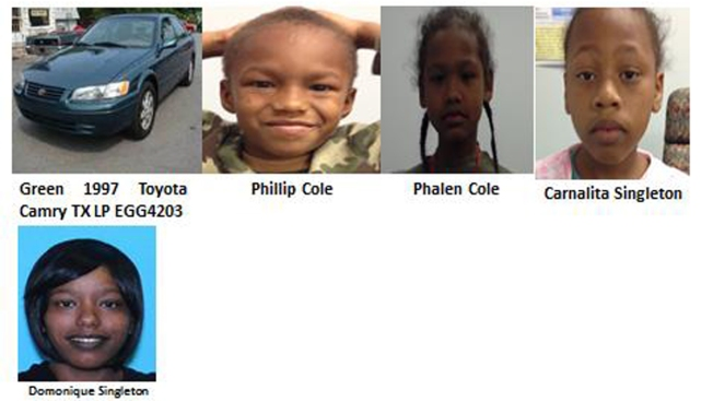 Alerta de secuestro de niños en Texas
