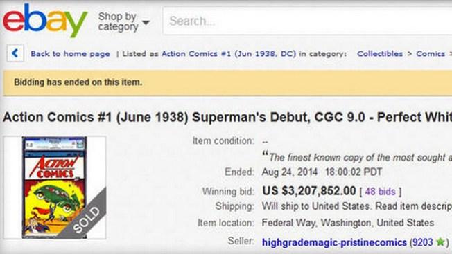Venden cómic por $3.2 millones en eBay