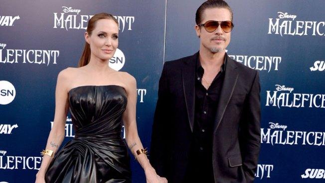 """Pegan a Brad Pitt en estreno """"Maleficent"""""""