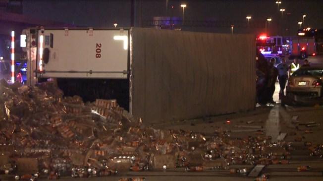 Miles de cervezas se tomaron la I-10