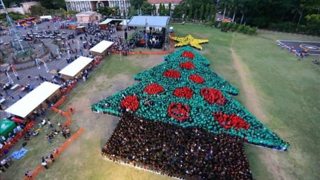 Récord por Árbol de Navidad Humano