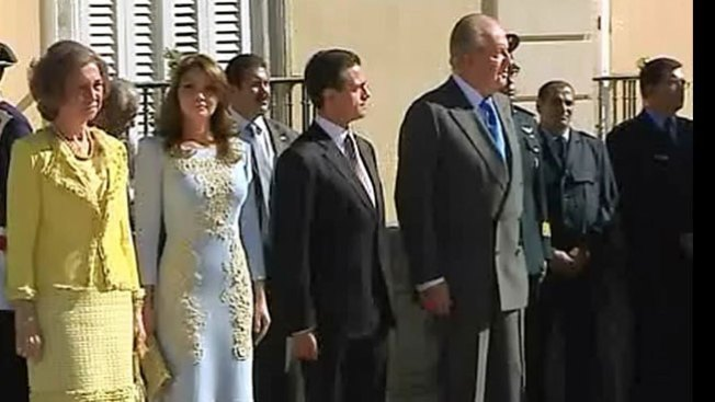 Peña Nieto visita a los Reyes de España