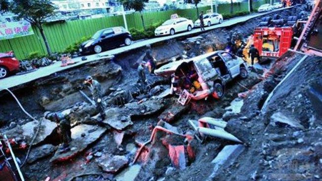 Explosión de gas mata a 20 en Taiwán