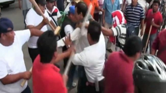 Pelea entre sindicalistas deja heridos en México