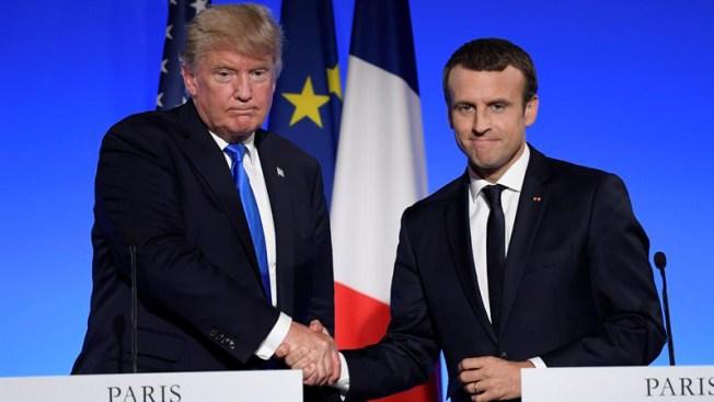 Macron: Trump está reflexionando sobre el cambio climático