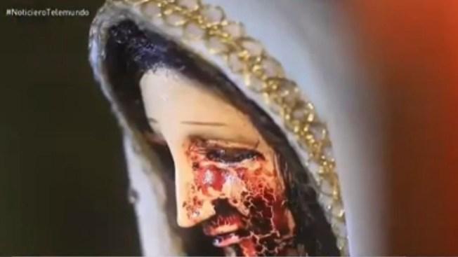 Aseguran que virgen llora sangre