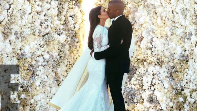 Rompe récord foto de boda Kim y Kanye