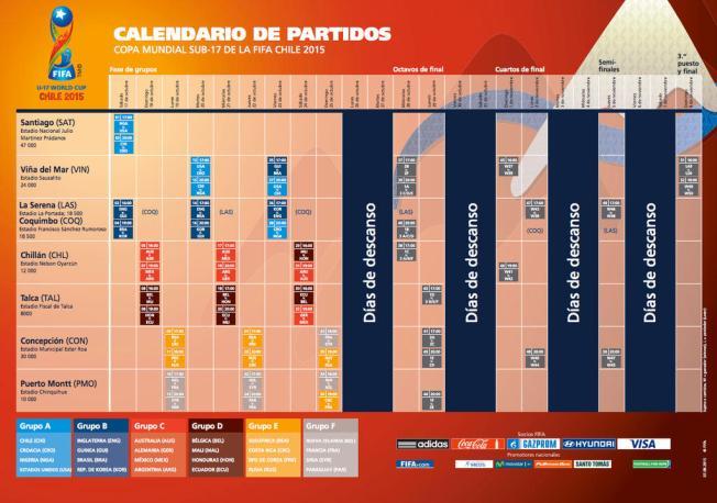 Calendario de partidos de la Copa Mundial Sub-17