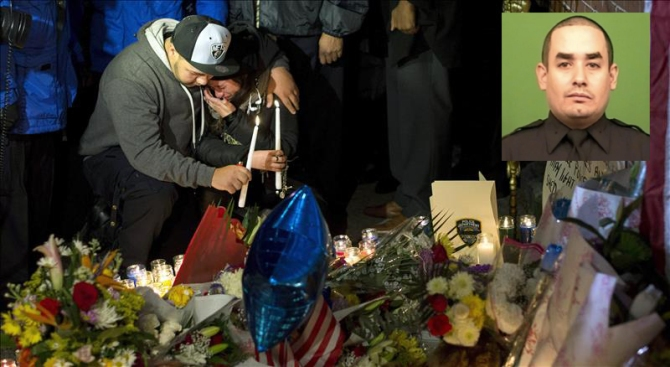 Velan los restos del policía latino asesinado